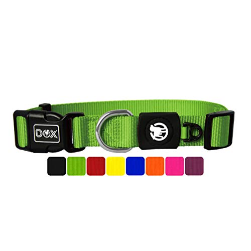 DDOXX Hundehalsband Nylon, verstellbar | viele Farben & Größen | für kleine & große Hunde | Halsband Hund Katze Welpe | Hunde-Halsbänder | Katzen-Halsband Welpen-Halsband klein | Grün, S