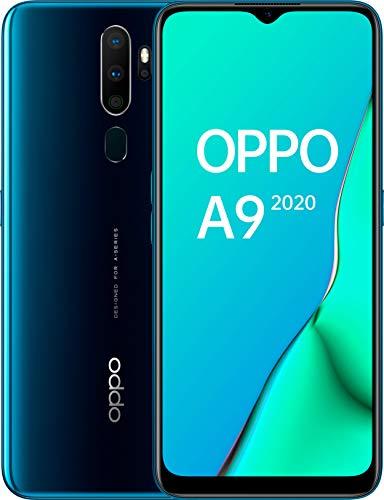 """OPPO A9 2020 - Smartphone de 6.5"""" HD+, 4G Dual Sim, 8 Core, 128 GB, 4 GB RAM, 48 + 8 + 2 + 2 MP, 16 MP, Verde Marino [Versión ES/PT]"""