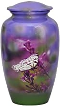 World Bazaar Butterfly Cremation Urns Large Burial Urn for Human Ashes Adult Size with Velvet Bag