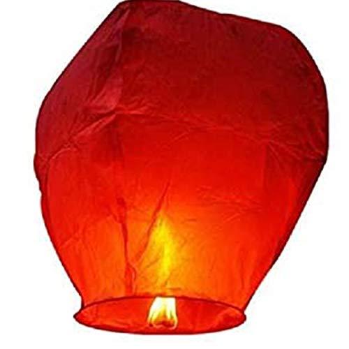 SYSP 50 linternas de Cielo Chino Rojo, Linterna Kongming, linternas de Cielo ecológicas, para Navidad, año Nuevo, Boda