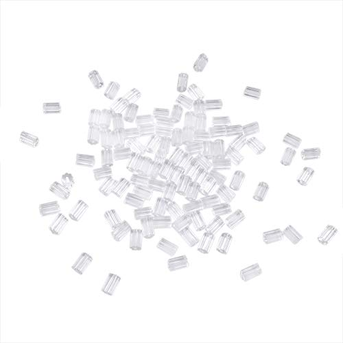 TOAOB 100pcs Clear Rubber Earring Safety Backs Stopper 3x3mm for Earrings Making