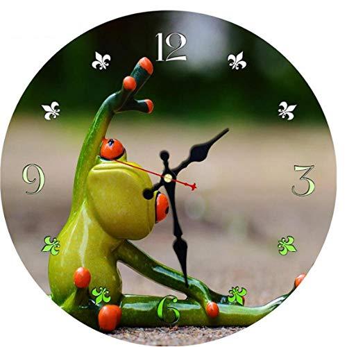 Reloj de pared de madera MINGKK con diseño de animales, moderno, grande, silencioso, decoración de pared, decoración del hogar, reloj de pared de 30 cm