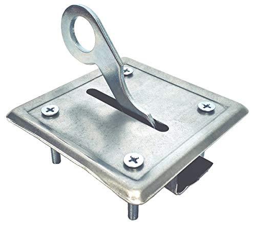 Chiusura a serratura incassata per scala retrattile e botola da soffitta scrocco nylon