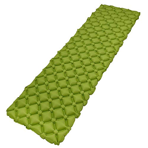 JHKJ Ultralight Air Sleeping Pad - Best Inflatable Mat for Camping, Backpacking Ultra-Comfortable Air Mattress Ideal for Cot, Tent, and Hammock,Green