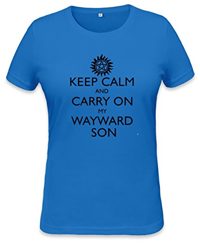 Keep Calm And Carry On Womens T-shirt Small