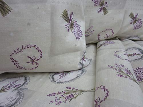 PAGO POCO Bettwäsche-Set aus weicher Mikrofaser, Motiv: Lavendel, für Einzelbett, Doppelbett, Neuheit 2020! 160 x 190 cm Singolo