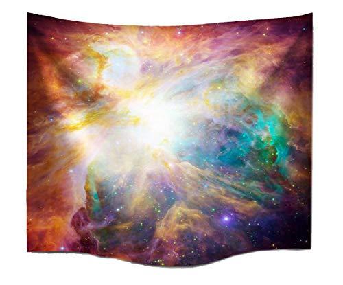 A.Monamour Univers Extérieur Galaxie Espace Stars Magique Mur De Tissu Imprimé Planète Tapisserie Pendaison pour Enfants Garçons Filles Décor De Mur De La Chambre