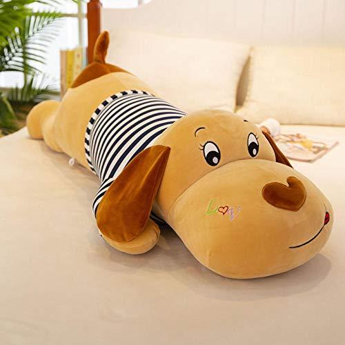 Recordever Creative Software Couple Lying Dog Knuffel Groot Lang Slaapkussen-zwart-witte Strepen _50cm (0.15kg)