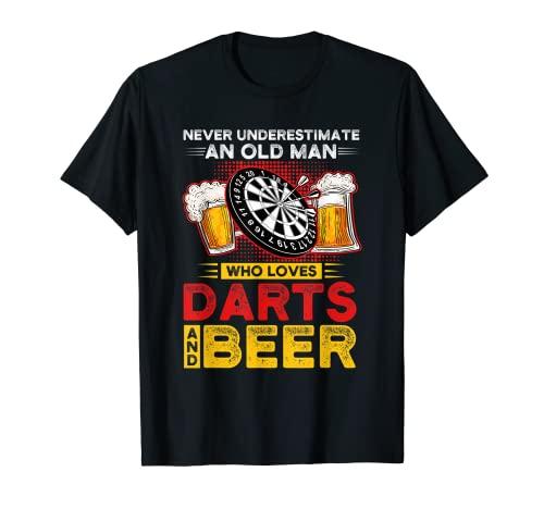 Nunca subestimes dardos y cerveza Dart player Camiseta