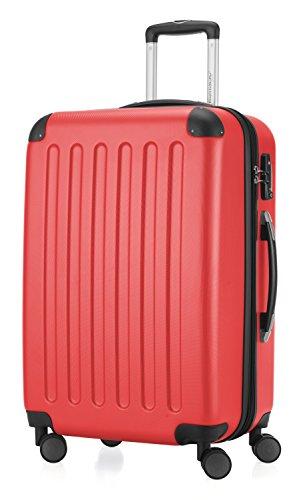 HAUPTSTADTKOFFER Spree - Hartschalen-Koffer Koffer Trolley Rollkoffer Reisekoffer, TSA, Hand Luggage, 65 cm, 82 liters, Red (Rot)