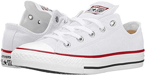 Converse Chuck Taylor All Star Low Top, Optical/White Canvas, 10 Women/8 Men
