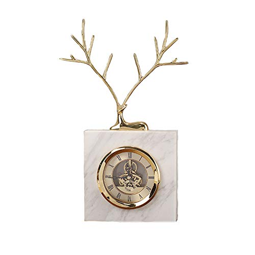 YAODFYL Fawn Uhren Handgemachte Retro Persönlichkeit Uhren Geschmiedetes Kupfer Kreative Ruhige Uhren Dekoration Pastoral Home Dekorationen