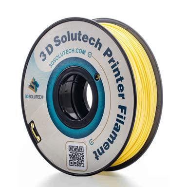 3D Solutech Banana Yellow 3D Printer PLA Filament 1.75MM, Dimensional Accuracy +/- 0.03 mm, 2.2 LBS (1.0KG)