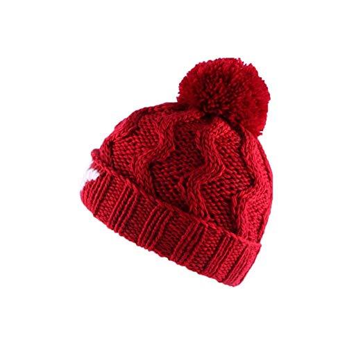 Léon montane Bonnet à Pompon Winter NY Rouge - Mixte