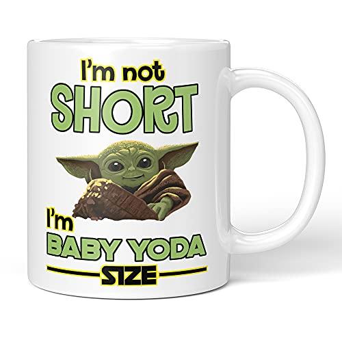 Baby Yoda Star Wars - Taza de cerámica para té (11 onzas)