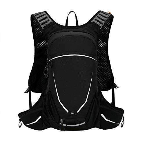 Zaino Sportivo per Esterno Impermeabile Uomini Leggero Zaino Trekking Climbing Donne Alpinista sport esterno di Borsa Daypack bici da Arrampicata da Campeggio ( Colore : Black , Size : 18L )