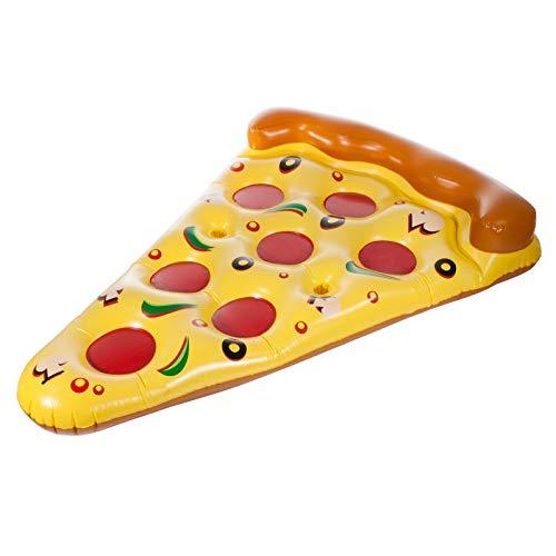 Smartfox Luftmatratze XXL Pizza Stück aufblasbar für Pool Meer See ca. 180x150 cm