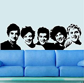 One Direction Wall Sticker 1D Poster Girls Bedroom Living Home Decoration Pictures Removable Wall Art Wallpaper Vinyl Decals