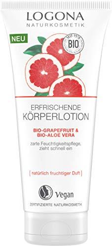 LOGONA Naturkosmetik Erfrischende Köperlotion Bio-Grapefruit & Bio-Aloe Vera, 200 ml
