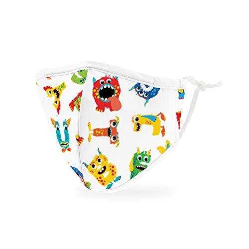 Weddingstar Enfants Masque en tissu lavable Tissu de protection réutilisable et réglable Couvercle avec poche pour filtre à poussière - alphabet