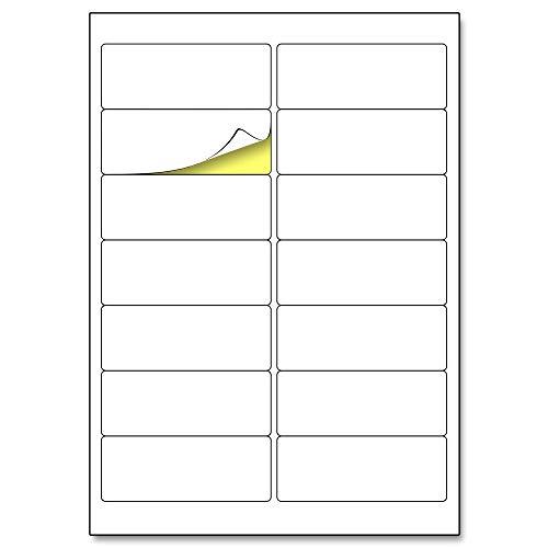 99,1 x 38,1 mm, 25 hojas, A4 Etiqueta Adhesiva Blanca Pegatina - 14 etiquetas por hoja