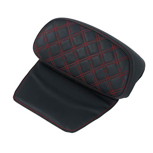 XFMT Chopped Tour Pack Backrest Pad Fit Harley Road king Street Glide 14-20 Red Balck
