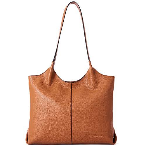 BOSTANTEN Women Handbags Designer Shoulder Tote Bag Soft Genuine Leather Top-handle Purse Brown