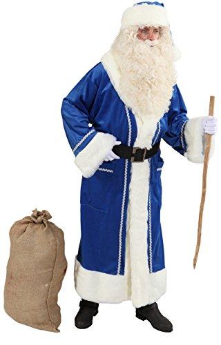 Orlob Weihnachtsmann Mantel in blau für Herren zu Weihnachten Gr.52/54
