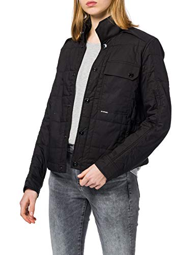 G-STAR RAW Womens Quilted Jacket, Dk Black 4481-6484, L