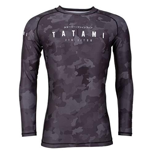 Tatami Rashguard Stealth Langarm Herren Rash Guard für Jiu Jitsu, Fitness, Grappling und MMA - Kompressions Shirt in Camouflage (L)