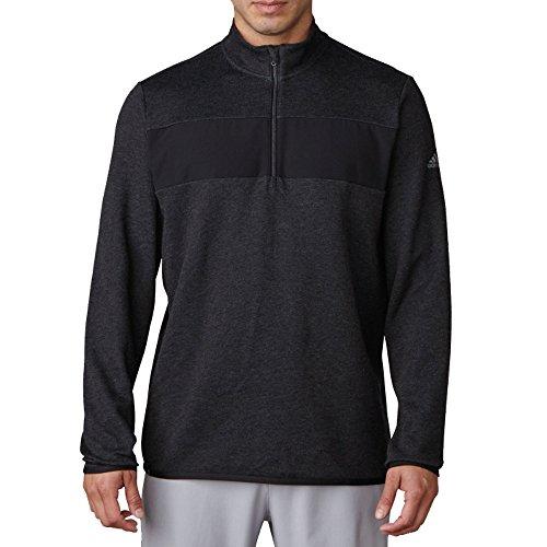 adidas Adi Club del Golf Hombres Rendimiento 1/4Cremallera Chaqueta, Hombre, Black Heather