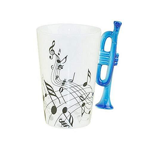 Erjialiu Kaffeetasse Musik-Trompeten-Email-Becher/Keramik-Musik-Becher Milch Kaffeetassen Große Geschenke,Stil 1