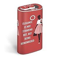 glo グロー グロウ 専用スキンシール 全面 + 天面 + 底面 360°フルセット カバー ケース 保護 フィルム ステッカー デコ アクセサリー 電子たばこ タバコ 煙草 デザイン 女性 人物 英語 013772
