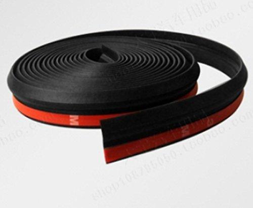 車内 静音化 ウェザーストリップ Z型 静音モール 気密性アップ (黒, 5m)