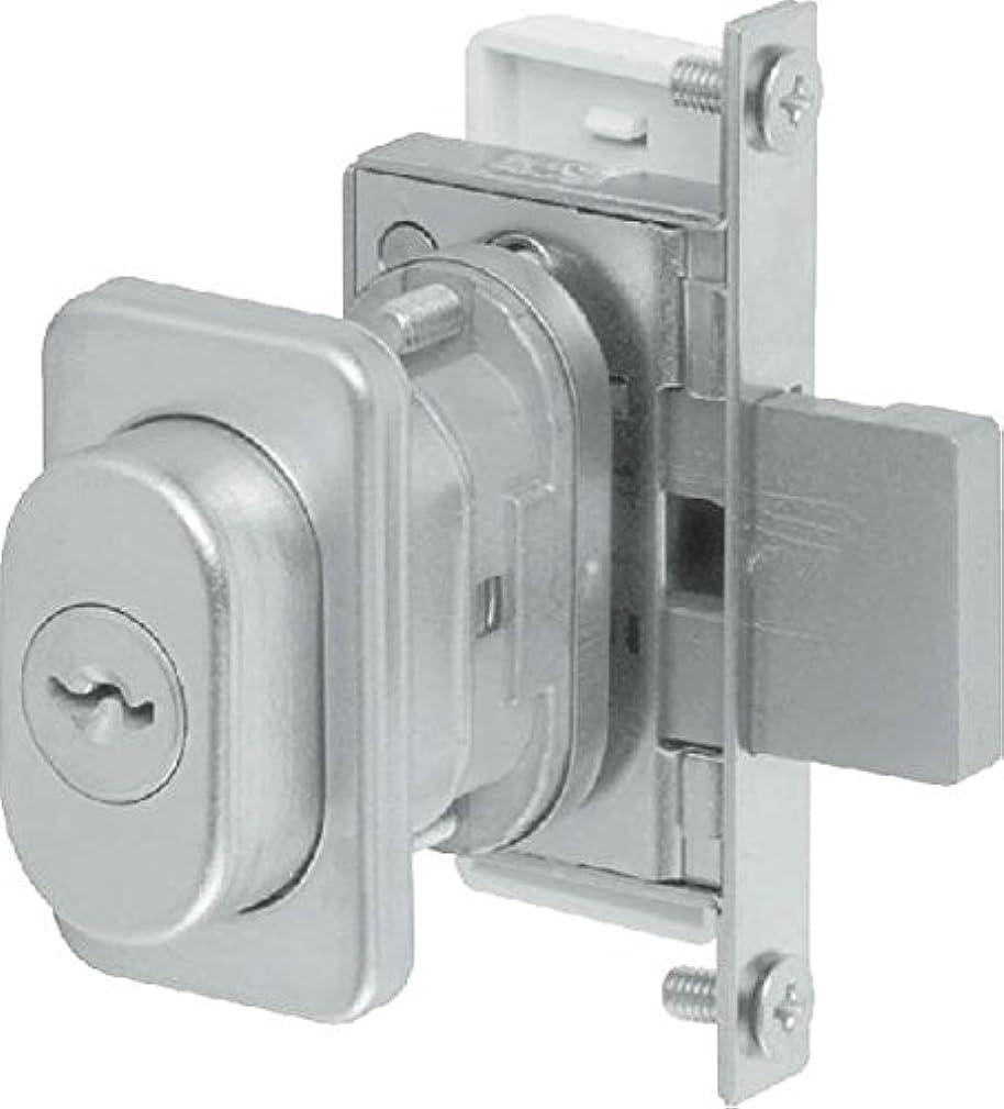 観点折アクセスできない開き戸補助錠(シリンダー付)(HH-2K-19546) WM:シルキーホワイ×勝手:外観左吊元