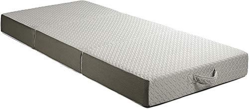 Milliard Premium Colchón Plegable de Tres Partes, 15cm de Viscoelástica Profundidad, para Huéspedes con Funda Extraíble Removible y Lavable (190x75x15cm)
