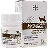 Bayer Tapeworm Dewormer (prazquantel tablets) for Cats, 3 tablets
