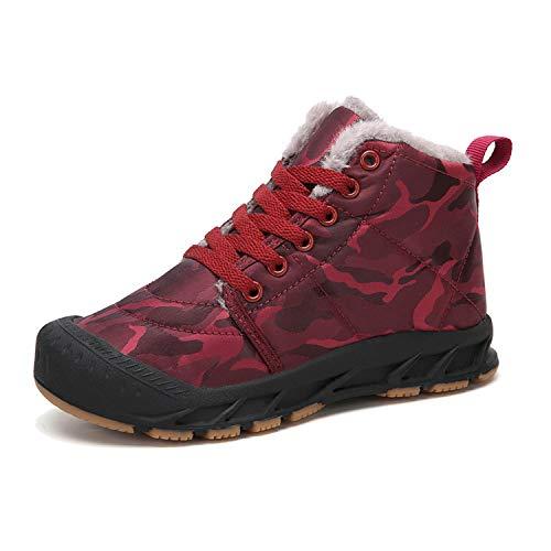 Veluckin Zapatos Invierno Niño Botas de Nieve de Camuflaje