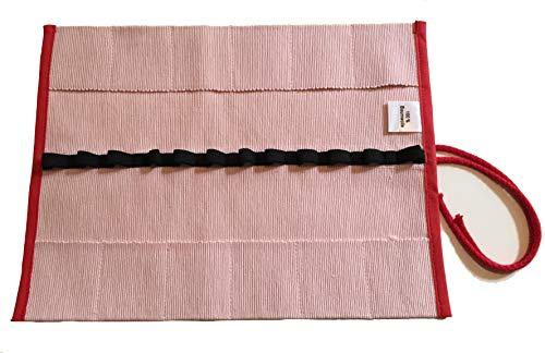 Morgenspruch Eurythmieversand Stiftemappe Rollmäppchen Waldorf Stockmar (rosa)