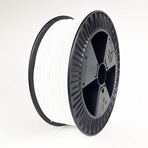 NuNus PETG Filament 2KG, Weiss - 1,75mm Polyethylenterephthalat (kurz PET-G) *Premium Qualität in verschiedenen Farben für 3D Drucker, 3D Pen, Lebensmittelecht Filament