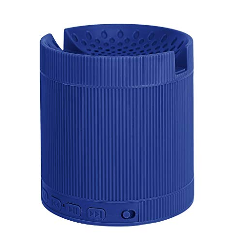 FAGavin Azul de Mini Equipo de música estéreo 3D portátil inalámbrico Bluetooth Altavoz de Sonido del Altavoz con el Soporte de Altavoces de Sonido Envolvente