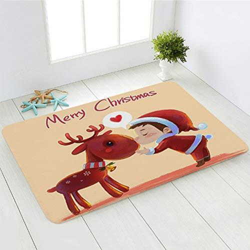 Felpudo de bienvenida de Navidad de 61 x 45,7 cm, antideslizante, alfombra de entrada, alfombra para interiores y exteriores, cocina, baño, sala de estar, recámara, alfombras