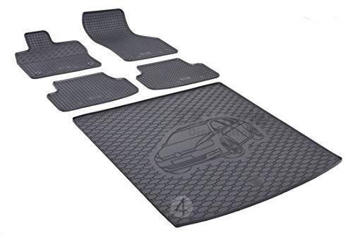 Passgenaue Kofferraumwanne und Gummifußmatten geeignet für VW Golf VII Variant ab 2013 + Autoschoner MONTEUR