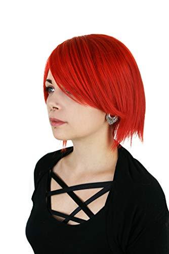 Prettyland C515 - 30cm perruque courte raide rouge - résistante au lavage à haute température