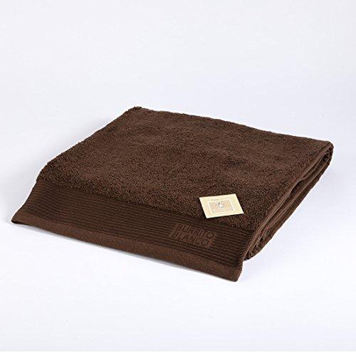 Burrito Blanco Toalla de Ducha/Toalla de Baño Lisa de Rizo Suave Algodón 100% de 70x140 cm, Color Marrón Oscuro