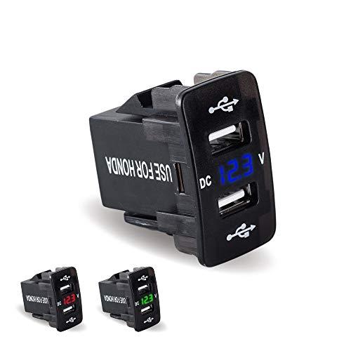 JIANGNANCHUN speciale auto gewijd aan originele dubbele USB-poort autolader origineel type gerecht Compatibel met ⚠ USB zwart
