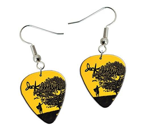 Jack Johnson Guitarra Plectro Earrings Pendientes (F1)