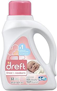 2-Pack Dreft Stage 1: Newborn 32 loads Liquid Laundry Detergent, 50 oz