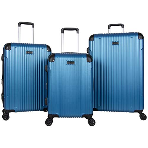 Ben Sherman Heathrow Haul 3-Piece (20', 24', & 28') Lightweight Hardside Expandable 8-Wheel Spinner Suitcase Set, Vivid Blue