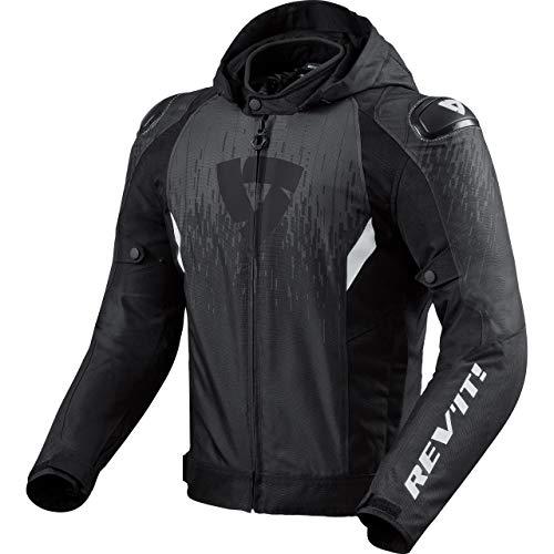 REV'IT! Motorradjacke mit Protektoren Motorrad Jacke Quantum 2 H2O Textiljacke schwarz/anthrazit L, Unisex, Sportler, Ganzjährig, Polyester